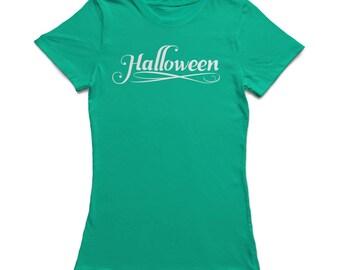 Halloween Classic Signature Women's Kelly Green T-shirt