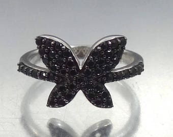 Small Sterling Silver Butterfly Ring