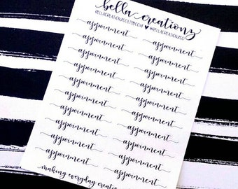 Appointment Script Stickers - Daily Life Stickers - Planner Stickers - (20)