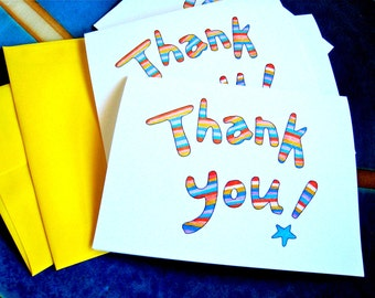 Modern Stripe Thank You Cards - Thank You Notes - Thank You Cards Boxed Set