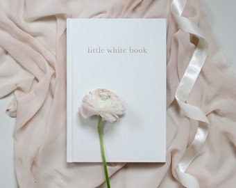 little white book wedding planner, organizer & journal