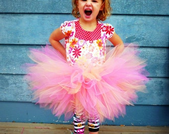 Petite Pixie Tutu - SEWN and Super FULL Custom Tulle Skirt  - Pixie cut tulle in your choice of color and length - parties, costume