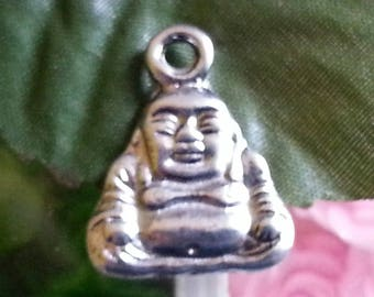 1 pendant of Tibetan style, lead and cadmium-free, antique silver, Buddha, 16.5 mm x 20 mm, hole: 3 mm