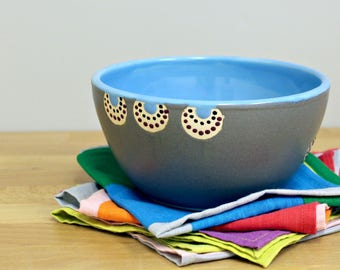 Blue Ceramic Bowl, Soup Bowl, Cereal Bowl, Salad Bowl, Modern Bowl, Hand Thrown Pottery Bowl By Nstarstudio