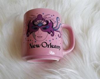 VTG New Orleans Mug, Mask Mug