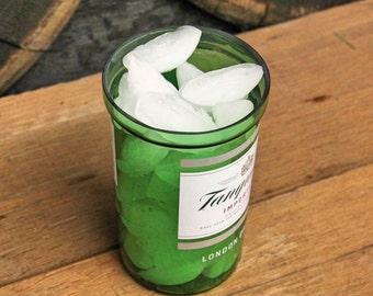 Tanqueray Gin Ice Bucket, Centerpiece, Utensil Holder, Vase, Craft Supply, Empty Top Cut Bottle, Desk Organizer, Recycled Bottle Decor