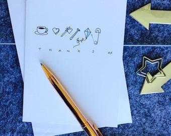 Thanks Handmade card (5 Pack)