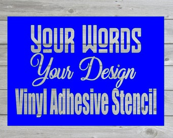 Custom vinyl stencil, Custom vinyl stencil for glass, Custom vinyl stencil for painting, Custom vinyl stencil sticker, adhesive vinyl