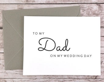 To My Dad On My Wedding Day Card, Dad Card, Wedding Card, Father of the Bride, Father of the Bride Gift  - (FPS0016)