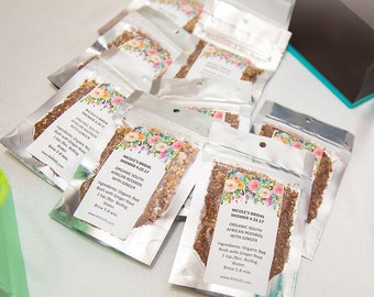 10 Custom Party Favor Tea - Perfect for Bridal Showers