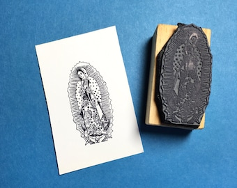 Virgin of Guadalupe Rubber Stamp
