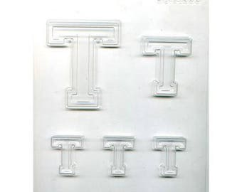 "Collegiate Letter ""T"" Chocolate Candy Mold"