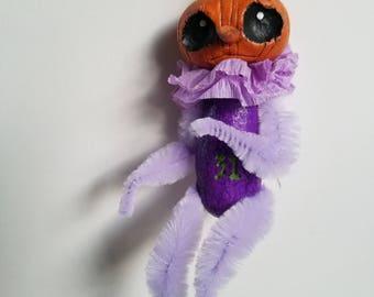 Lavender pumpkin ornament