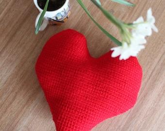 Crochet valentines day pillow