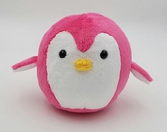 READY TO SHIP ~ Pink Penguin Plush Toy ~ Snowflake