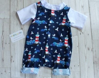 Shortie Romper...Lighthouses