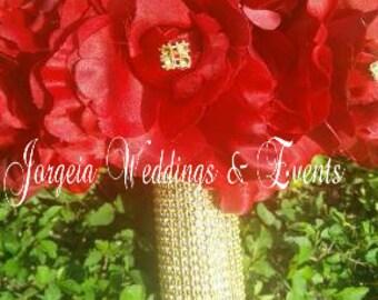 Gold Bling Wedding Bouquet