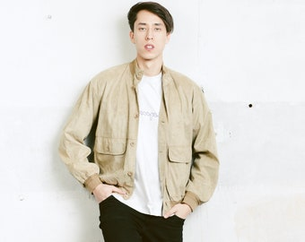 Velvet Bomber Jacket . Button Up Mens 90s Jacket Unisex 90s Fall Jacket Outerwear Boyfriend Wear Men 90s Clothing . size Medium