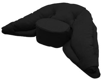 Ergonomic Yoga Cushion Black - Large Size