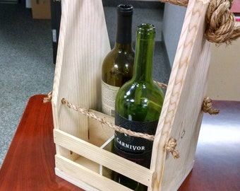 Rustic Wine Caddy