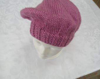 One size adult vintage pink beret