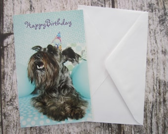 Gibson's Greeting Card - Happy Birthday Dog blank inside