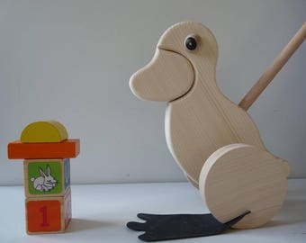 Unfinished unpainted untreated blank Wooden Toy, Wood Toys Paintable,  Wooden toys, blank push toys, wooden duck, unfinished wood, wood for