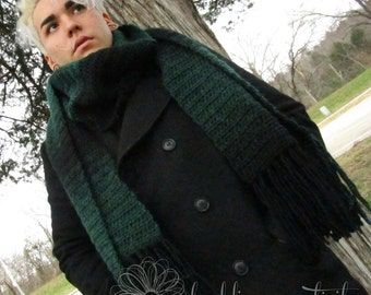 Evergreen Crochet Super Scarf With Fringe