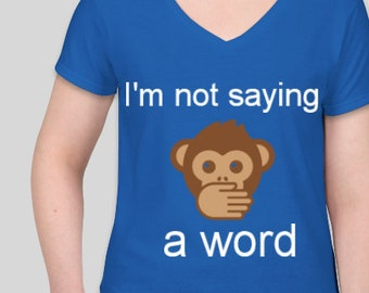 i'm not saying a word with a monkey covering his mouth-how adorable is this?