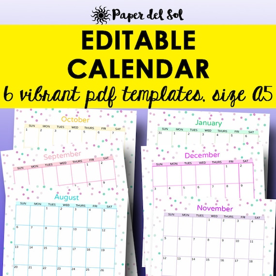 printable blank monthly calendars