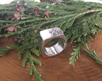 Little Bee Sterling Silver Chunky Ring