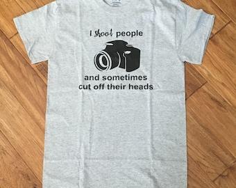 I Shoot People: Photography Tee