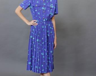 Beautiful vibrant blue/periwinkle dress Silky soft- XS-M