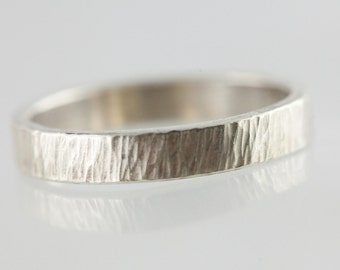 Modern band ring / stack ring