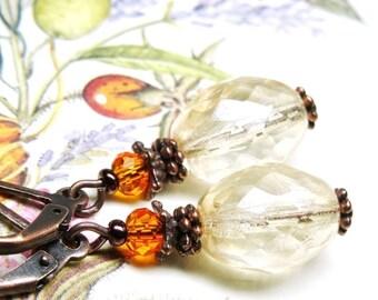 Earrings ❀ LOUISE treasures Crystal copper Bohemian OR752 ❀