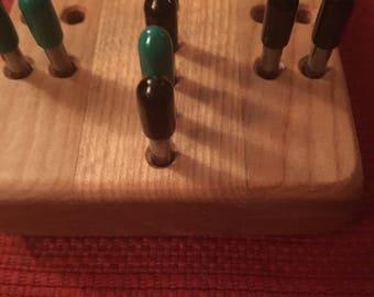 Cribbage board rail style