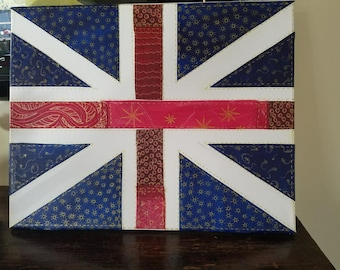 Hand-crafted Union Jack flag. British Flag in time for the Royal Wedding... would make a great gift!