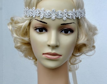 Rhinestone headband | Etsy