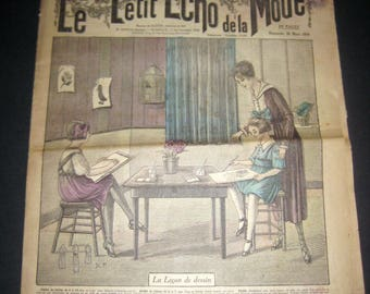 Antique (1919) Fench Fashion Newspaper - Le Petit Echo de la Mode  - Dimache 30 Mars 1919
