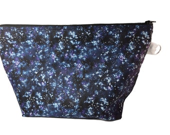 Starry Night Sky Knitting Project Bag