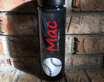 Personalized Baseball Sports Water Bottle/Tumbler--Great Gift for Baseball Moms or Coaches! Bulk Baseball Tumblers