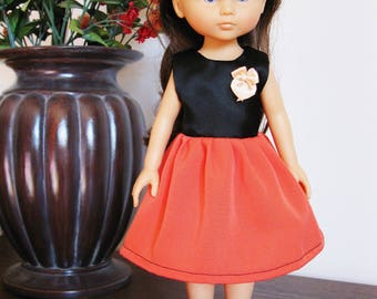 "Handmade Doll Clothes Dress fits 13"" Corolle Les Cheries Dolls Handcraft 10"