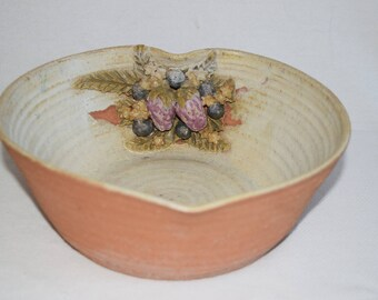 Sandra McKenzie Schmitt Large Strawberry Pottery Bowl