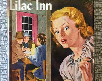 Nancy Drew MYSTERY at LIKAC INN 1950s edition vintage book with dust jacket