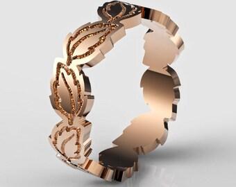Leaves Wedding Ring, Leaves Wedding Band, Rose Gold Leaf Ring, Leaves Wedding Ring, Leaves Wedding Band, Gold Leaves Ring, Gold Leaf Ring