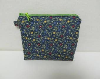 "Zipper Pouch/5""x7""x2""/Flower"