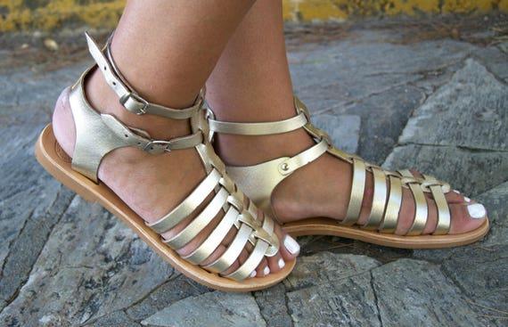 13103c4c4ebb ... Women Gladiator sandals EZEROSY Greek sandals Leather sandals sandals  GOLD sandals Strappy 5wqwFTzU ...