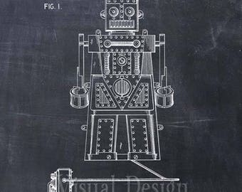 Toy Robot Patent Print Robot Art Print