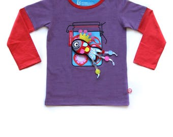 BEEETÚ T-shirt Happy Flower with fish
