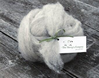 Kimberly's Grey Shetland Roving - 4 ounces